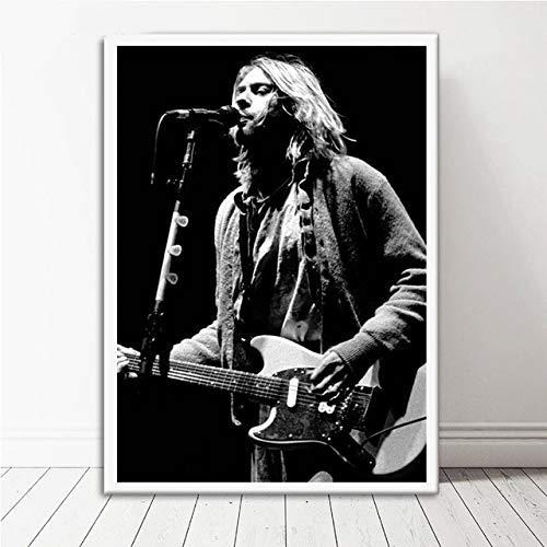 Hllhpc Canvas Painting Caliente Kurt Cobain Rock Música