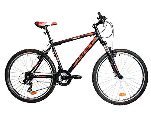 WST Cosmo Bicicleta de montaña, Hombre, Negro/Naranja, 26'