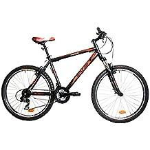 """WST Cosmo Bicicleta de Montaña, Hombre, Negro/Naranja, 26"""""""
