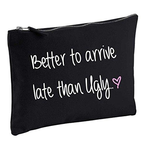 60 Second Makeover Limited Mieux vaut être d'Arriver Tard que Ugly Noir Make Up Sac cadeau Idée de cadeau Trousse de toilette