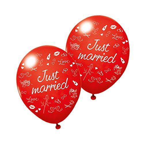 SUSY CARD 40012179 Globos con Mensaje «Just Married», 3 Unidades.