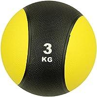 Carnegie 3kg Balón Medicinal Fitness–Pelota de balón de Crossfit, Entrenamiento de la Fuerza