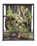 Reptiles Planet Terrarium für Reptilien / Amphibien, Aluminium, elegantes Design, 62,5x 45x 45 cm,schwarz