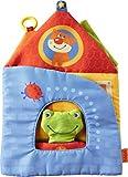 HABA 302859 - Stoffbuch Traumstadt2 | Aufklappbares Bilderbuch aus Stoff mit 10 Seiten | Babybuch mit Frosch-Fingerpuppe | Ab 6 Monaten