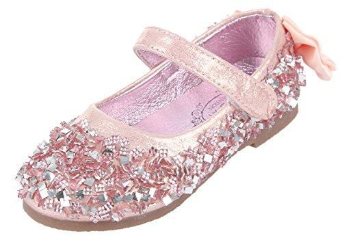 Rosa Kinderschuh Menina Festivas Criança Bailarina Eozy Brilhante Sapatos S8d01qqx