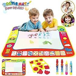 Angusiasm Doodle Magic Tapis, 80cmx60cm Doodle Eau Planchette Tapis ,Magique Peinture Ecriture Tapis Planche La Magie Stylo Kit d'apprentissage Dessin Jouet