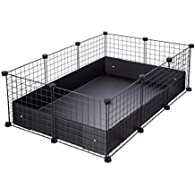 CagesCubes - Jaula CyC Grande (2X4 Paneles en Negro) + Base de Coroplast Negro