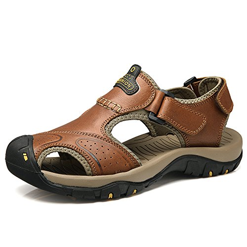 FOBEY-Men-Fashion-Velcro-Beach-Shoes-Outdoor-Walking-Running-Sports-Sandals
