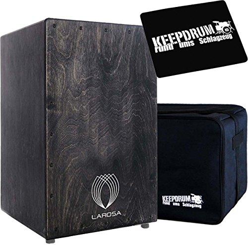 La Rosa Basic Serie Blackie cajón + Keepdrum Gig Bag + sitzpad