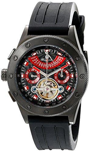Burgmeister Armbanduhr für Herren mit Analog Anzeige, Automatik-Uhr und Silikonarmband - Wasserdichte Herrenuhr mit zeitlosem, schickem Design - klassische Uhr für Männer - BM172-622E Freeport