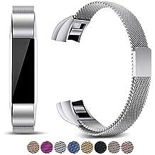 Mornex Correa Compatible Fitbit Alta y Fitbit Alta HR, Recambio de Pulseras Ajustables Acero Inoxidable