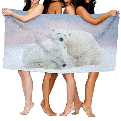 XIEXING Serviette de Bain Polar Bear Beach Towels Ultra...