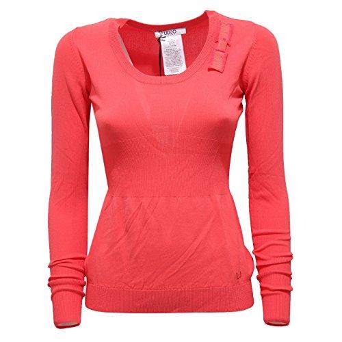 85057 maglia LIU JO JEANS MANICA LUNGA VISCOSA polo donna t-shirt women [L]
