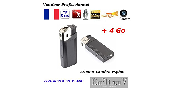 BRW08 BRIQUET CAMÉRA ESPION FULL HD 1080P 64 GO MAX VIDÉO AUDIO OBJECTIF CACHÉ