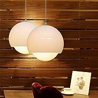 PC illuminazione moderna- 2pz vetro Ciondolo lampada singola testa Bar Lampadario 3 opzioni personalità artistica Led Indoor lampade pensili,poco brown