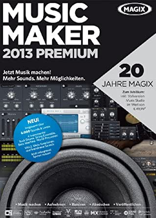 MAGIX Music Maker 2013 Premium (Jubiläumsaktion inkl. Music Studio) [Download]