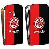 Samsung Galaxy S3 mini Tasche Schutz Hülle Walletcase Bookstyle Eintracht Frankfurt Fanartikel SGE Bundesliga