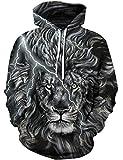 Goodstoworld Lion Hoodie Herren Damen 3D Sweatshirt Lustige Druck Herbst Pullover Kapuzenpullover Sport Kapuze Kleidung