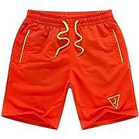 Pantalones de moda Pantalones cortos de playa suelta Hombres Boardshorts Casual 3XL Naranja