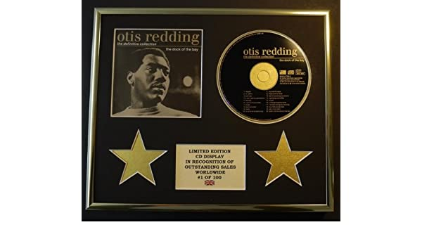 Otis Redding//Affichage CD///édition limit/ée//COA//The Definitive Collection The Dock of The Bay