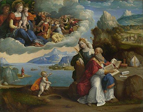 Das Museum Outlet-Garofalo-Die Vision von Saint Augustine-Leinwand Print Online kaufen (152,4x 203,2cm)