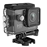 SJCAM SJ4000 1080P Action Camera 12MP Waterproof Underwater Camera 2.0 LCD Screen Display FHD Sports Camcorder- Black