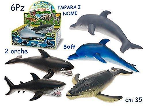 teorema 72400t animali marini soffici 35cm