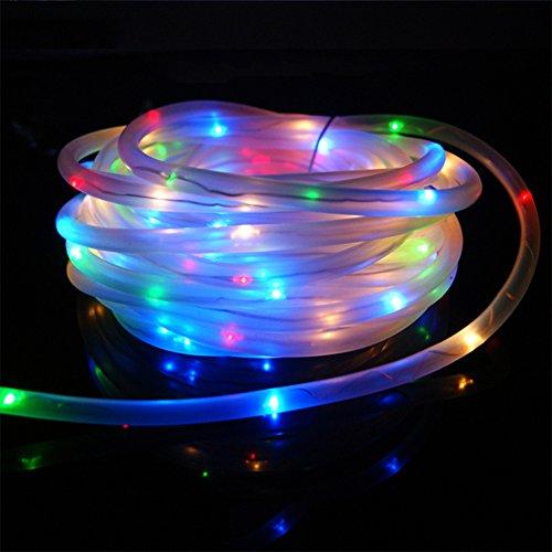 100 LED Guirlande Lumineuse, lumières filaires imperméables de 33ft, éclairage portatif pour l'intérieur / extérieur, maison, patio, pelouse, jardin, partie et décorations de vacances(multi)