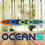 Ocean 5 Nestschaukel - Birdy - 100 cm für bis zu 2 Kinder - XXL Garten-Schaukel bis 150 kg belastbar, Höheverstellbare Kinderschaukel Outdoor