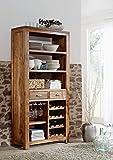 Akazie Massivmöbel Holz honig Weinschrank massiv Massivholz Möbel Shaman