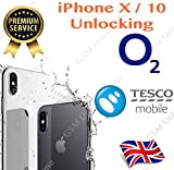 Unlock Unlocking Service Code for iPhone X iPhone 10 iPhone Ten for uk O2 network Only