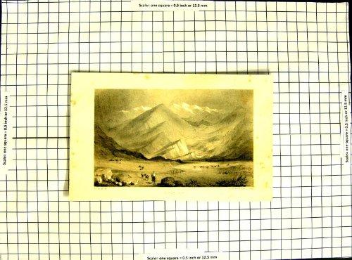 Berg-Uspallata-Tiere der Lithographien-C1790-C1900