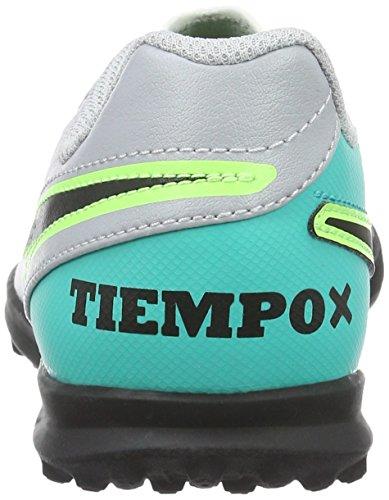 Nike Jr Tiempox Rio Iii Tf, Chaussures de Football Garçon Multicolore (Wolf Grey/Black-Clr Jade-Metallic Silver)