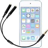 DURAGADGET Práctico Divisor De Auriculares Para Apple iPod Touch ( 6 / 5 / 4 / 3 / 2 / 1 Generación ) - Entrada De 3.5mm