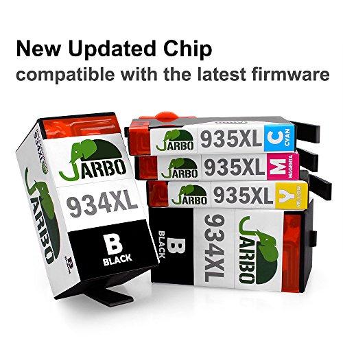 Preisvergleich Produktbild JARBO Kompatibel HP 934 XL 935 XL Tintenpatronen Hohe Kapazität (2 Schwarz,1 Cyan,1 Magenta,1 Gelb) kompatibel zu HP Officejet pro 6230 6835 6830 6812 6815 6836 Drucker