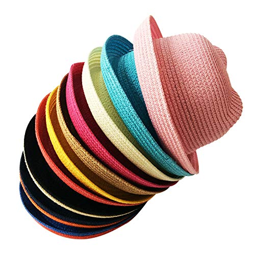 QUICKLYLY Sombrero de Paja Playa Respirable Sombrero de Sol de Ocio al Deporte Aire Libre Verano para Unisex Ni/ños Beb/é