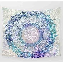 Unimall Mandala de Bohemia Tapices India Decoración del Tapiz de Pared Decorativo, ideal para usar como playa pareo, decorar una pared, sábana para meditar en yoga, 148x200 cm