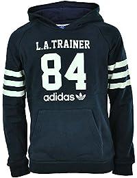 Adidas J Le Hoodie Junior Originals L.A. Trainer Kinder Trefoil Hoody Kapuzenpullover Navy