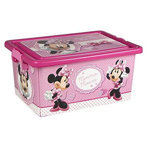ColorBaby - Caja ordenación 13 litros, diseño minnie mouse (76608)