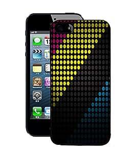 Fuson 2D Printed Colour Pattern Designer Back Case Cover for Apple iPhone 5S - D842