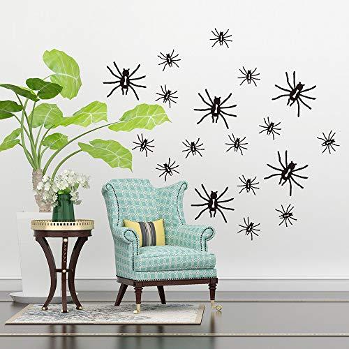 Rvqpytz 3Pcs Wall Stickers Popular English Decoration New Carved Furniture Wall Creative Simple Wallpaper Black Spider Halloween 33X55Cm