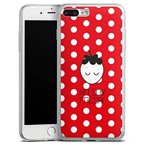 Apple iPhone 8 Plus Slim Case Silikon Hülle Schutzhülle Erdbeere Punkte Früchte Silikon Slim Case transparent