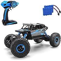MiGoo RC Rock Crawler Monster Truck Voiture électrique de commande à distance 2.4 GHz, 4 WD 1:18 Échelle (Bleu)