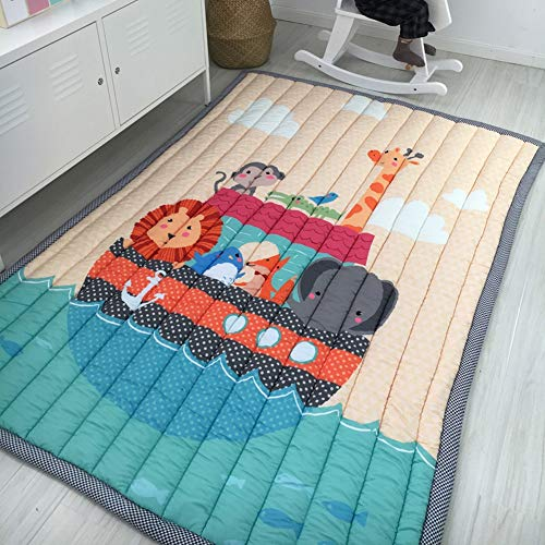 Patchwork-slip (Hbwz Kids Playmat Cute Design Baby Crawling Mat and Rug Non Slip, Washing Machine, Foldable Perfect for Baby ' S Tummy Time and Crawl 55 * 76.7in,Submarine)