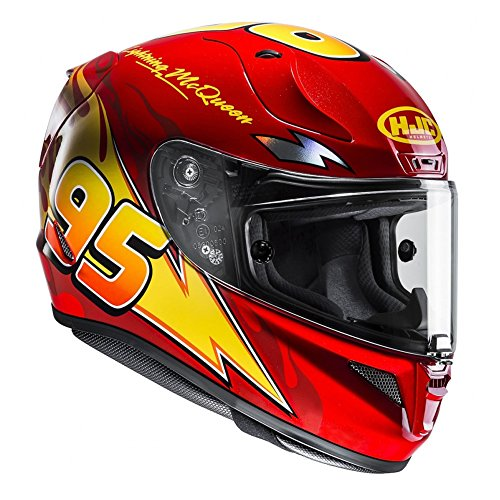 Casco Moto Hjc Rpha 11 Lightning Mcqueen Disney Pixar Light (M , Rosso)