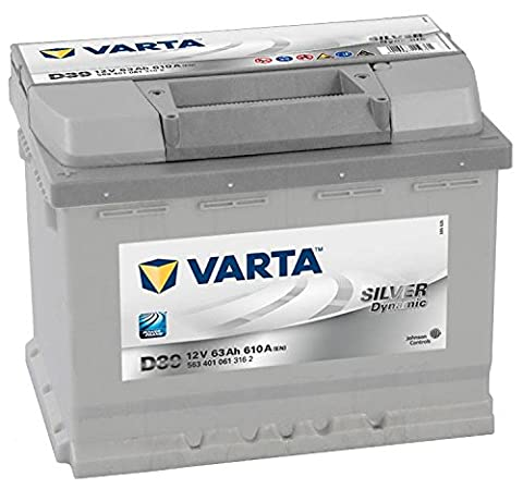 Type 078 Varta Silver Dynamic Car Battery 12V 63Ah (Short Code: D39) (Varta DIN: 563401061)