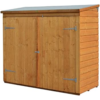 6ft x 3ft wooden shiplap garden shed