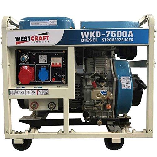 7,35kW West Craft Diesel Generadores corriente 2x