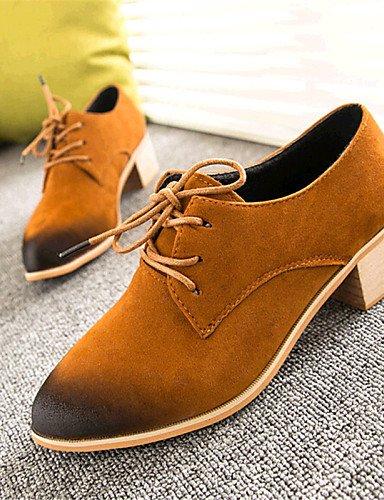 ZQ hug Scarpe Donna-Sneakers alla moda-Tempo libero / Casual-Comoda-Quadrato-Felpato-Nero / Giallo / Rosso , yellow-us8 / eu39 / uk6 / cn39 , yellow-us8 / eu39 / uk6 / cn39 black-us7.5 / eu38 / uk5.5 / cn38