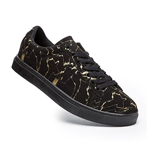 Hommes Chaussures De Sport Personnalité Chaussures Casual Non-slip Loisirs Bas Chaussures Baskets Noir